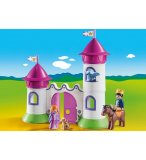 PLAYMOBIL 1.2.3 9389 CHATEAU DE PRINCESSE AVEC TOURS EMPILABLES