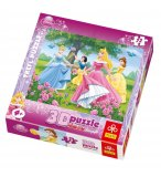 PUZZLE DISNEY LES PRINCESSES 3D 72 PIECES - TREFI - 35537