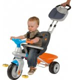 TRICYCLE BABY TOO COCOONING BLEU 2 EN 1 - SMOBY - 414203