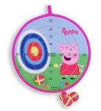 CIBLE SCRATCH PEPPA PIG 29 CM - CIBLE VELCRO ENFANT AVEC BALLES