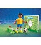 PLAYMOBIL SPORTS & ACTION 9510 JOUEUR DE FOOT BRESILIEN FIFA 2018