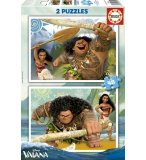 PUZZLE DISNEY VAIANA ET MAUI 2 X 48 PIECES - EDUCA - 16952